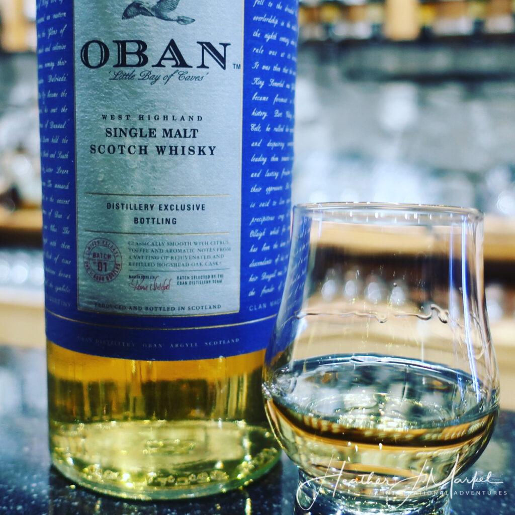 Oban single malt Scottish whisky.