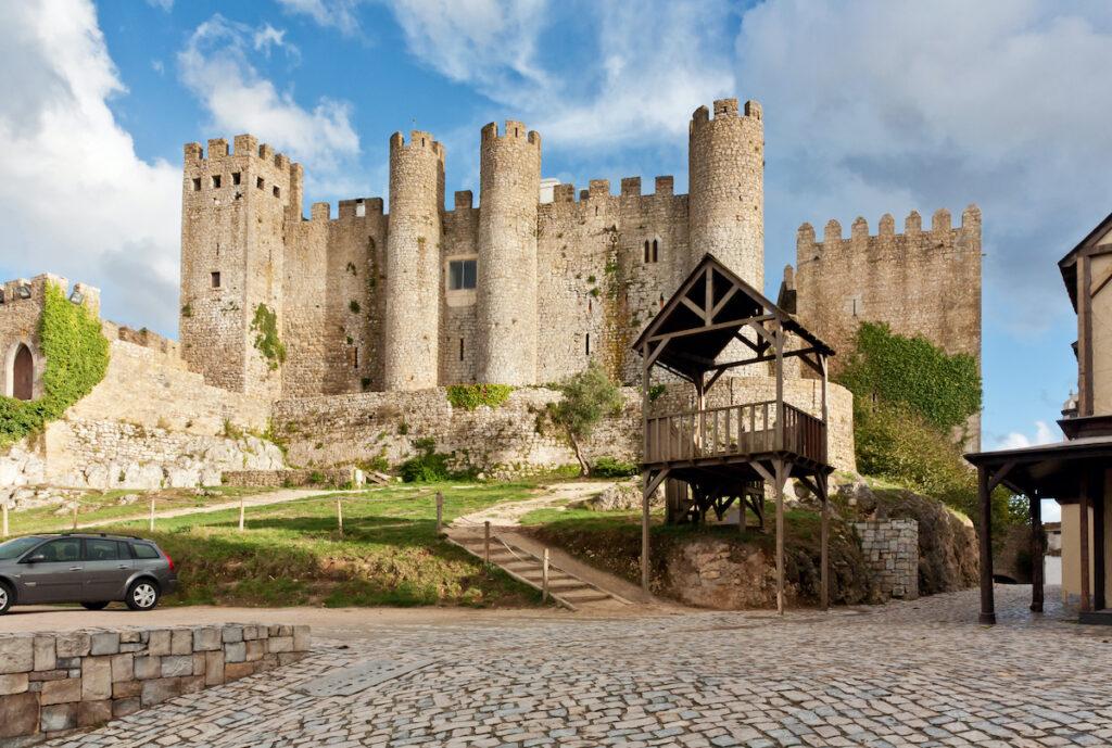 Obidos Castle in Obidos, Portugal.
