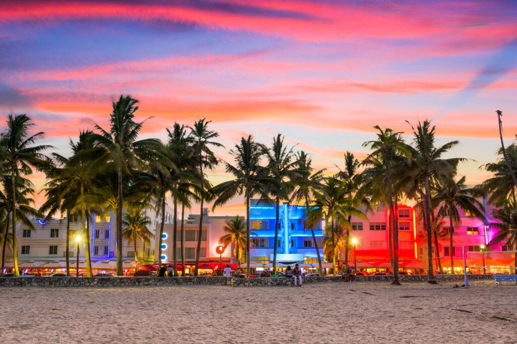 Ocean Drive, Miami, Florida.