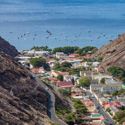 Ocean view from Saint Helena island.