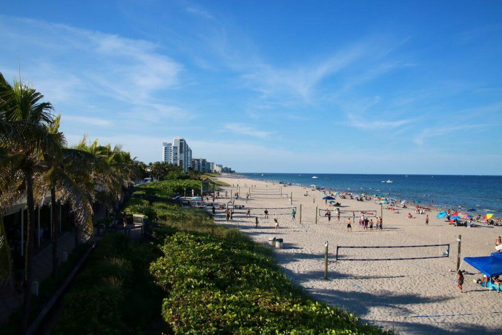 Ocean views in Deerfield Beach, Florida.