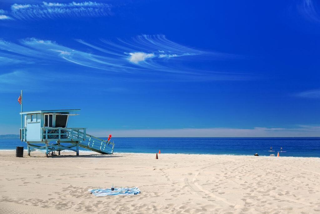 Ocean views in Hermosa Beach, California.