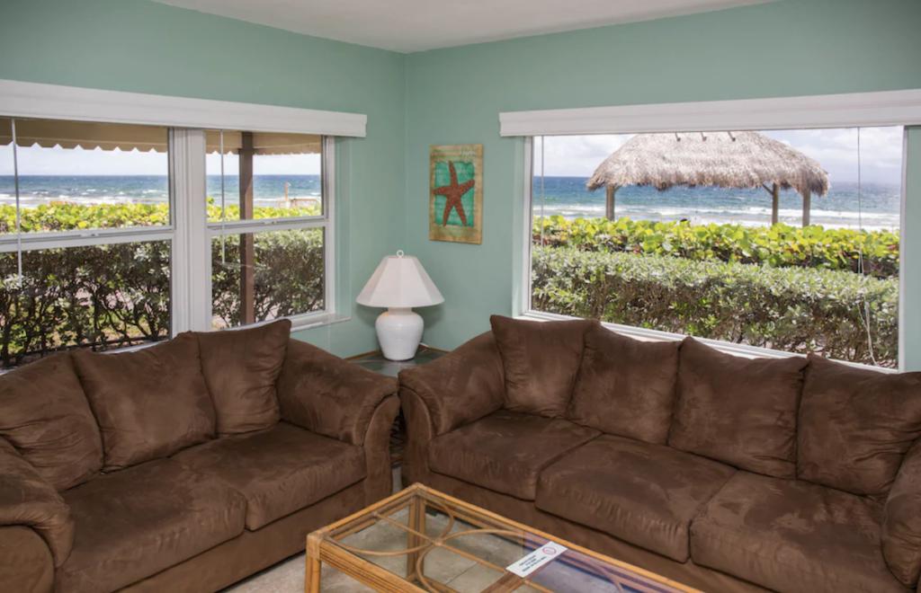 Oceanfront Hillsboro beach villa.