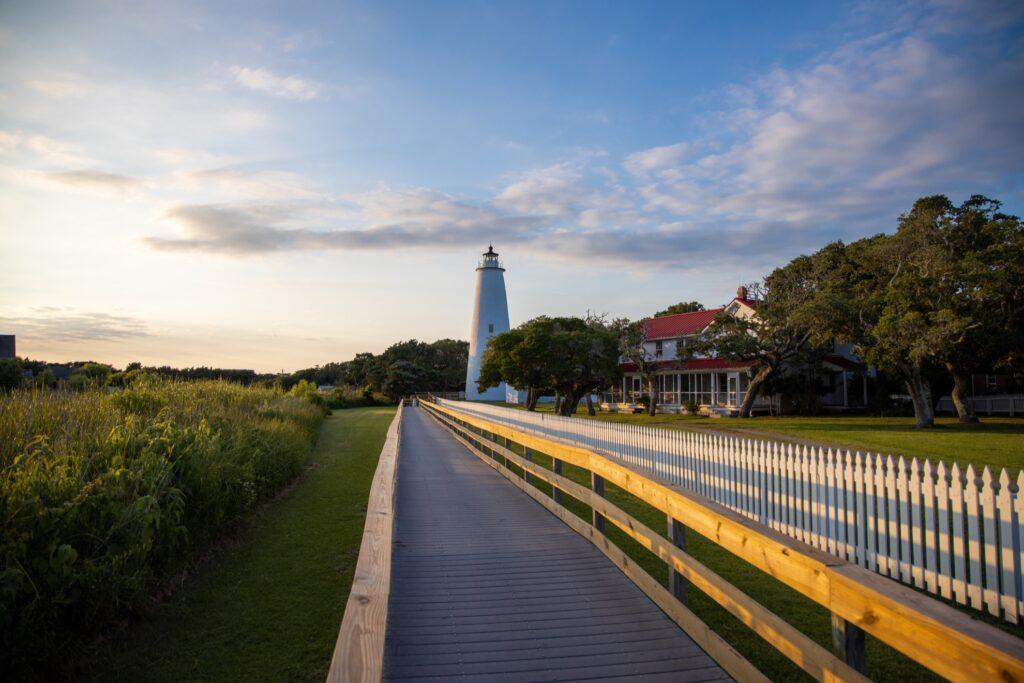 Ocracoke Lighthouse in North Carolina.