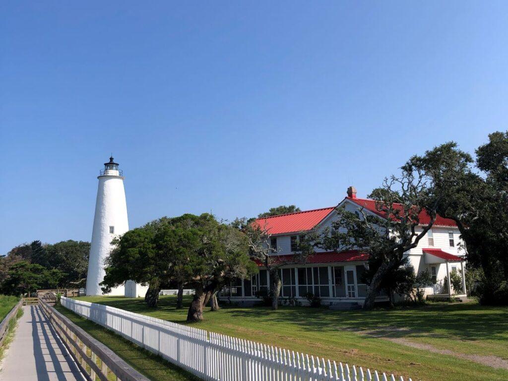 Ocracoke Lighthouse, Ocracoke Island, North Carolina.