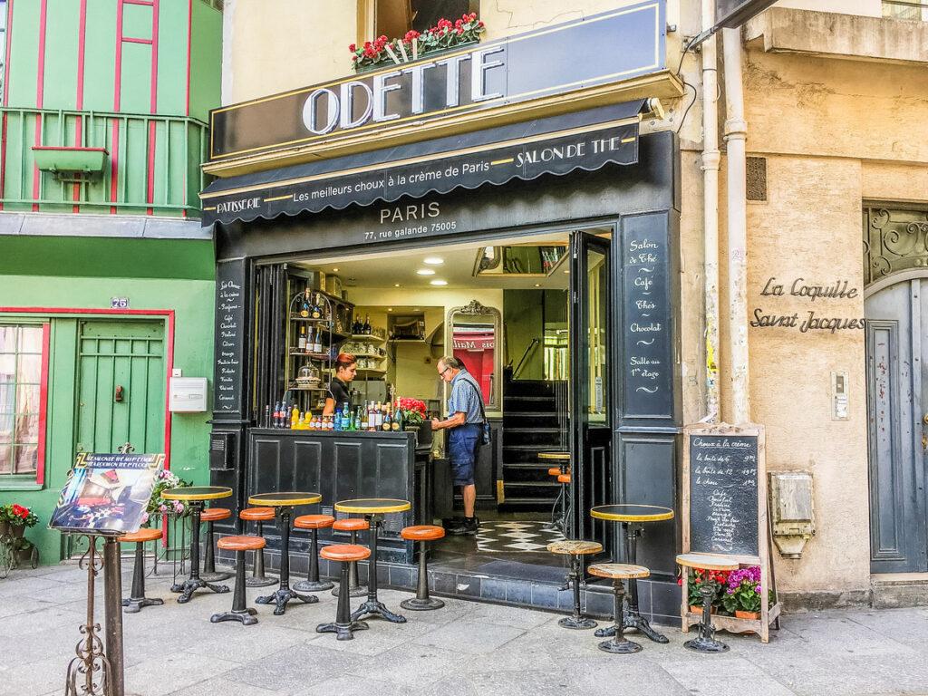 Odette Paris, a cafe in the Latin Quarter.