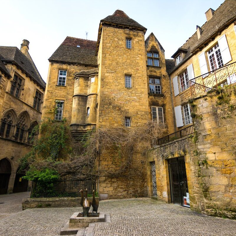 Old buildings in Sarlat, France.
