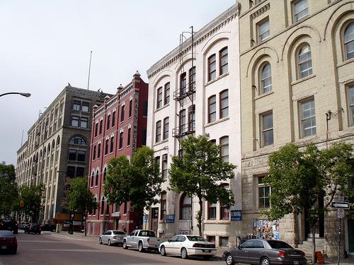Old buildings in the Winnipeg Exchange District