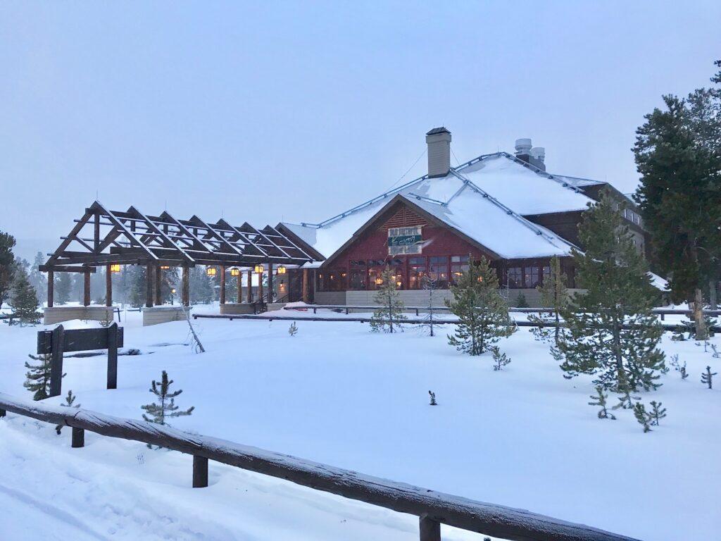 Old Faithful Snow Lodge in Yellowstone.