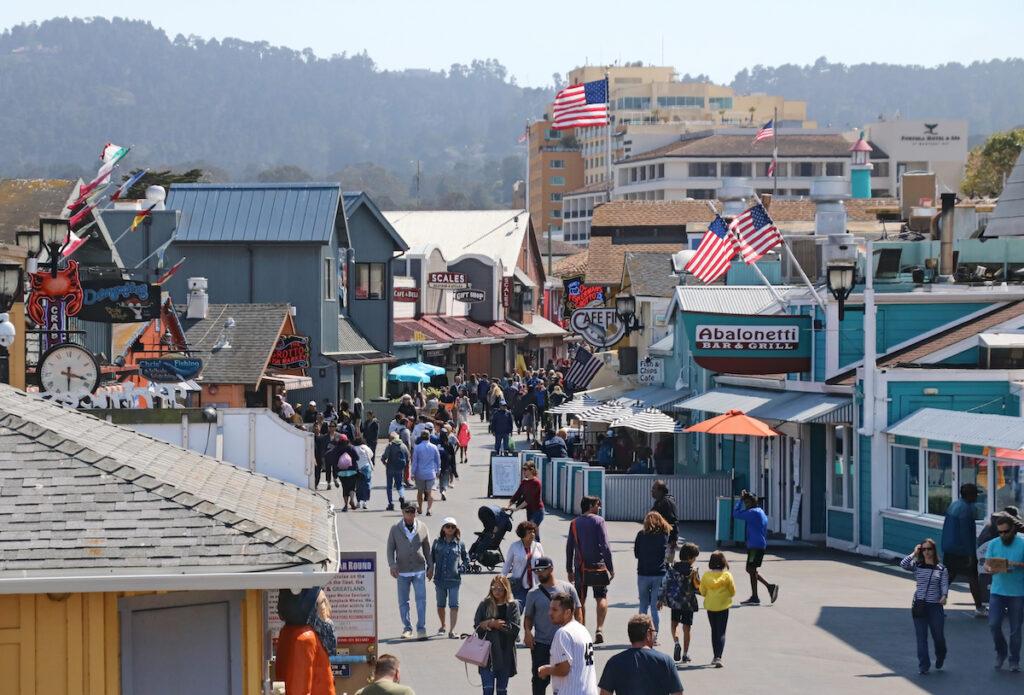 Old Fisherman's Wharf in Monterey, California.