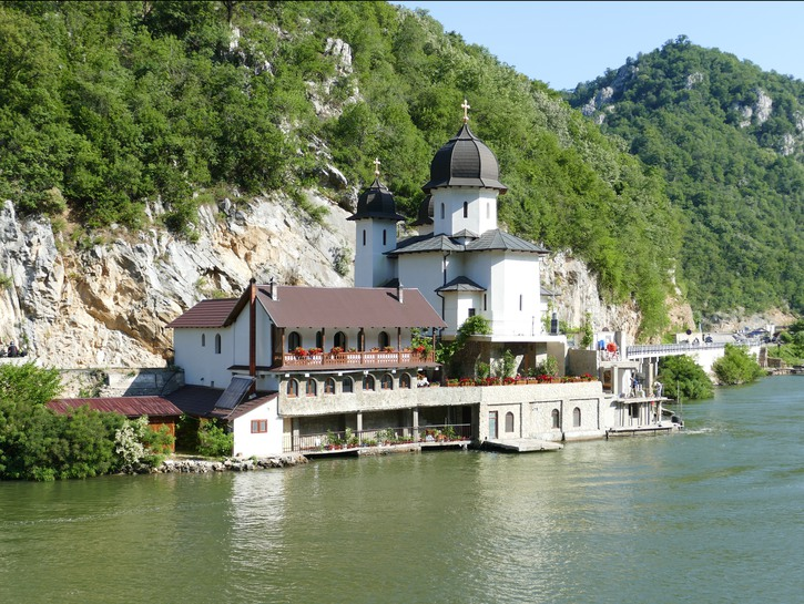 Old house on the shore of the Danube, Serbia
