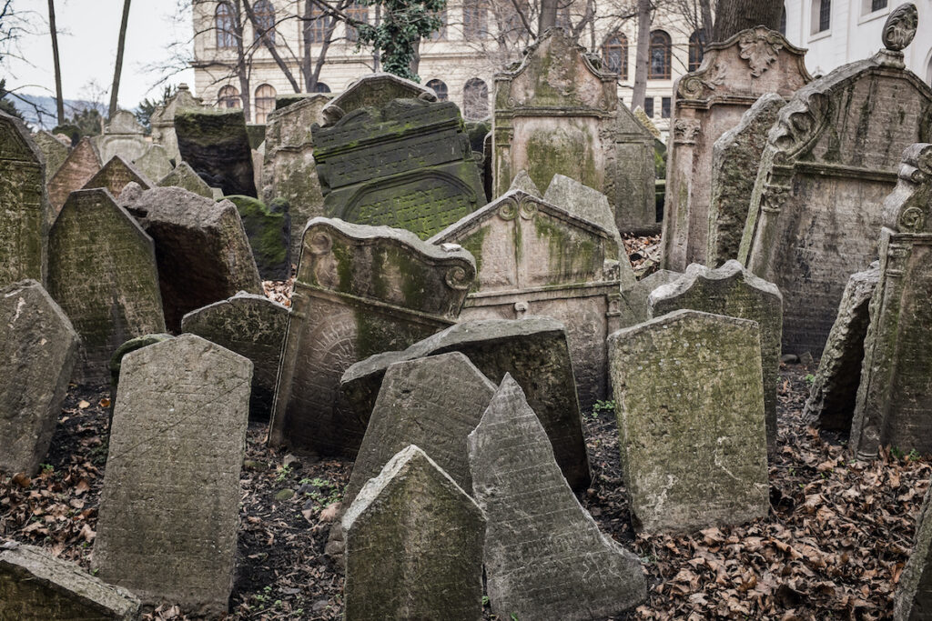 Old Jewish Cemetery, Prague, Czech Republic.