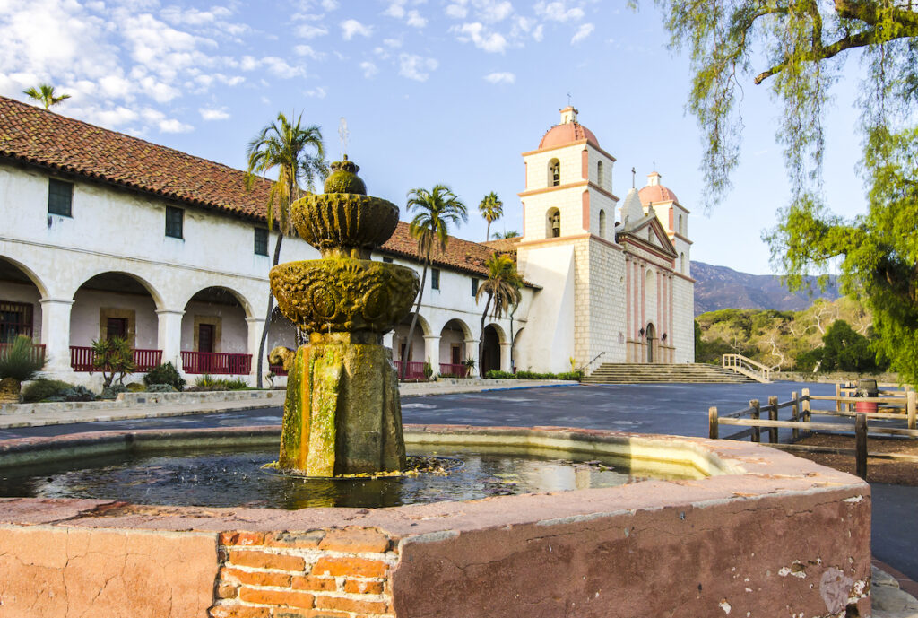 Old Mission Santa Barbara in Santa Barbara, California.