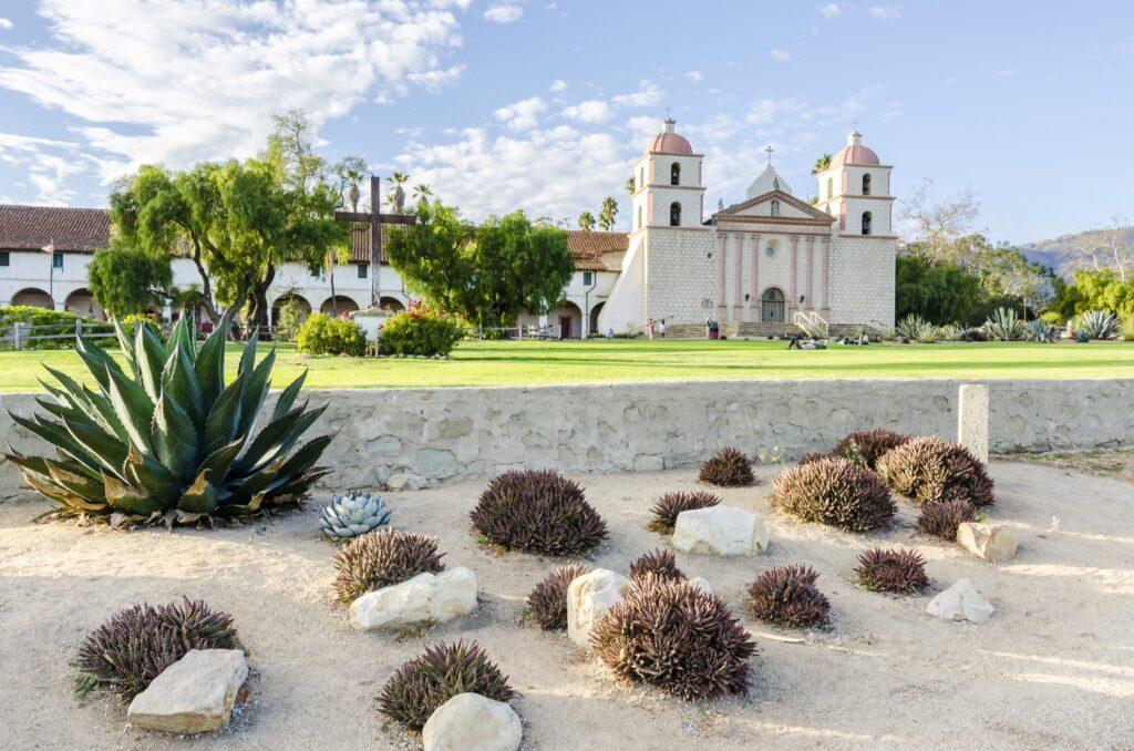 Old Mission Santa Barbara in California.