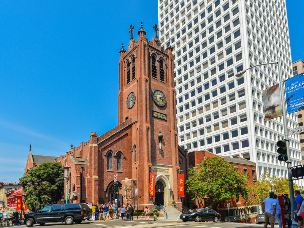 Old Saint Mary's Cathedral in San Francisco's Chinatown.