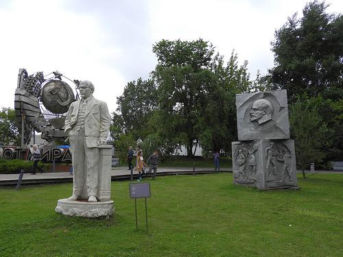 Old Soviet monuments.