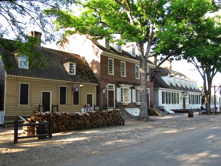 Old town colonial Williamsburg.