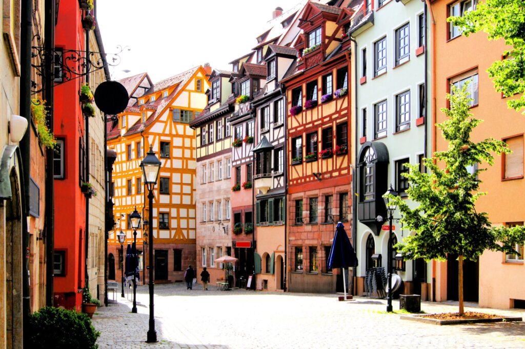 Old Town in Nuremberg, Germany.