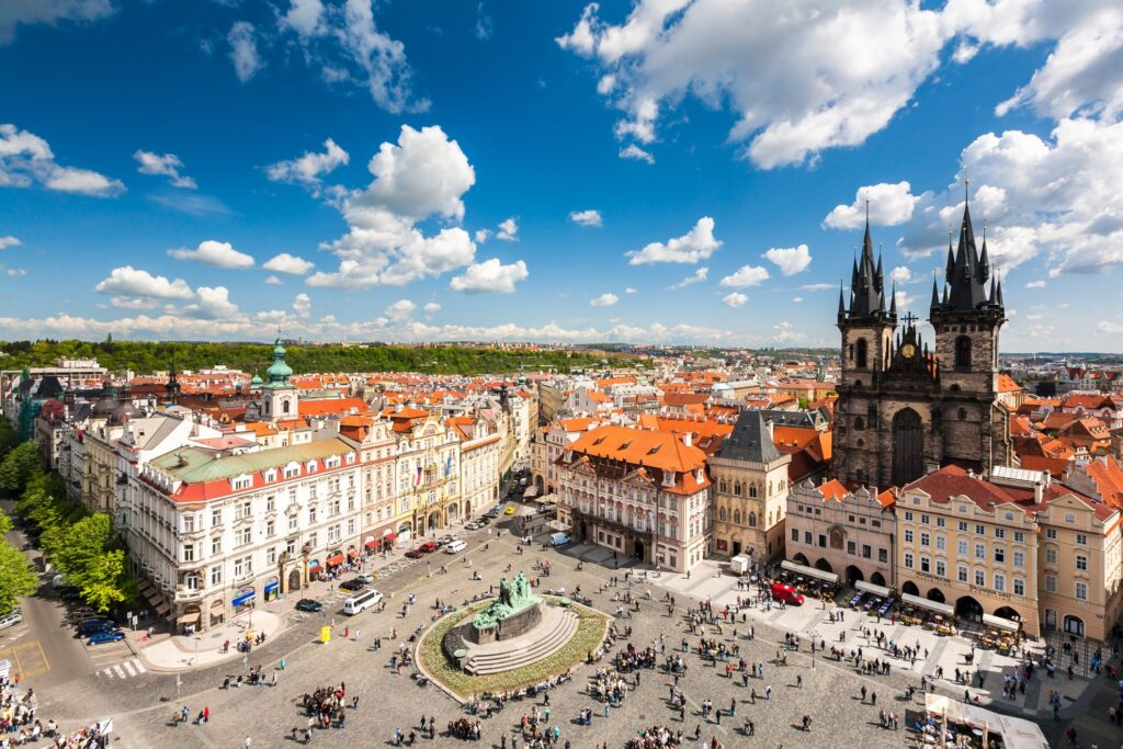 Old Town Square in Prague.