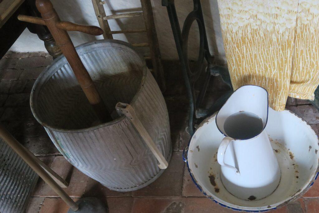 Old washing supplies.