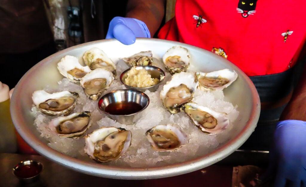 Olde Salt oysters from Rappahannock Restaurant