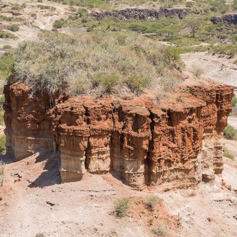 Olduvai Gorge in Tanzania.