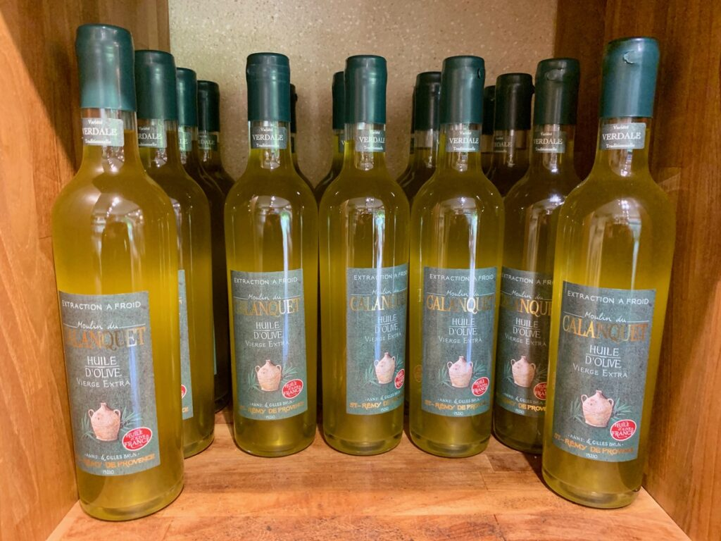 Olive oil from Moulin du Calanquet.