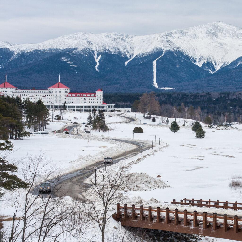 Omni Mount Washington Resort during winter.