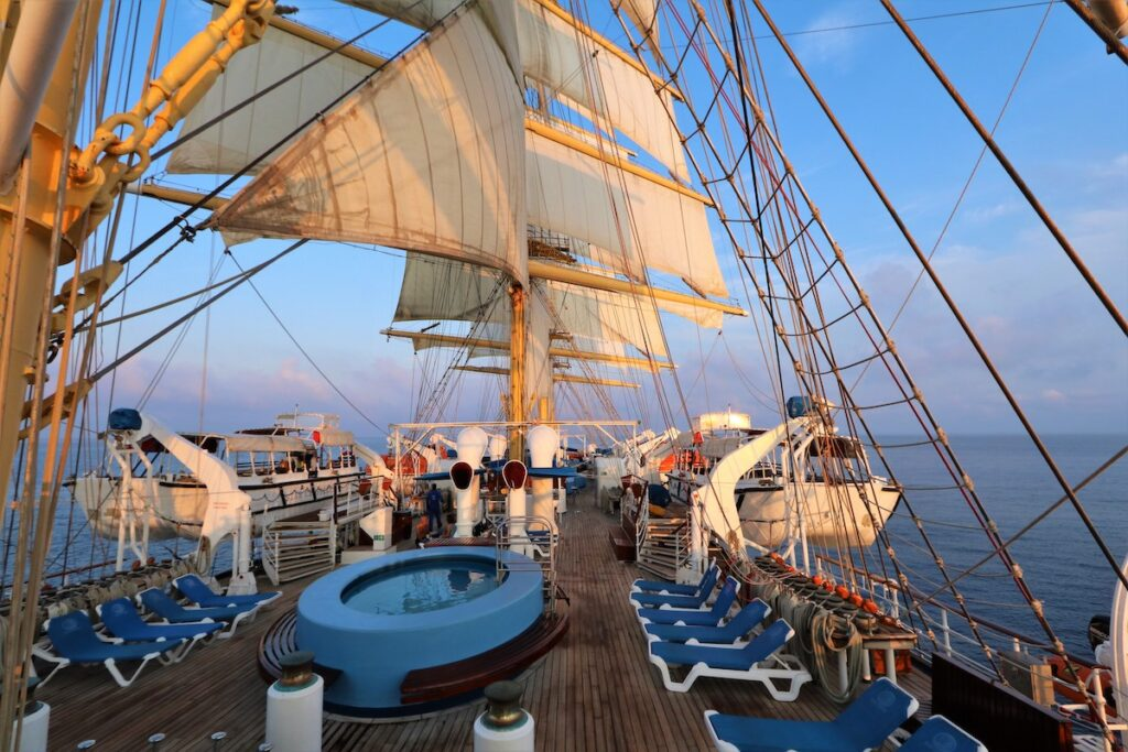 On board the Royal Clipper.