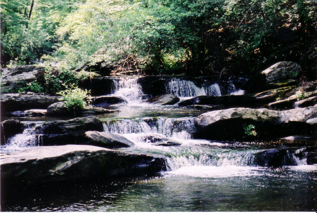 One of many waterfalls on the Chinnabee Silent Trail.