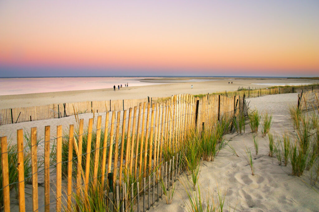 One of the beaches in Cape Cod, Massachusetts.
