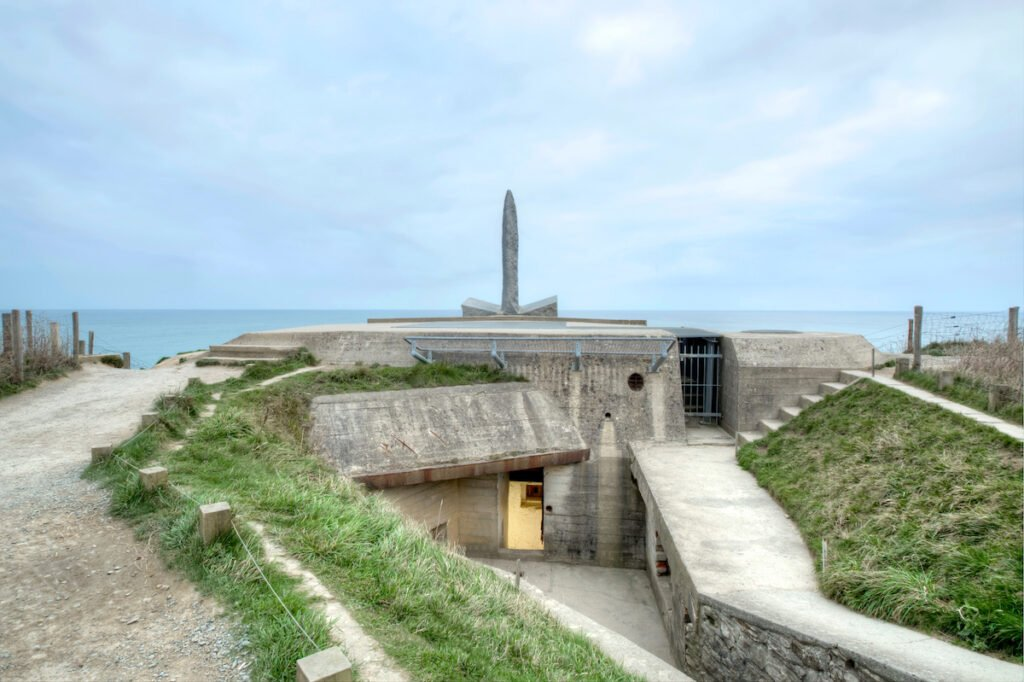 One of the bunkers at Pointe Du Hoc in France.
