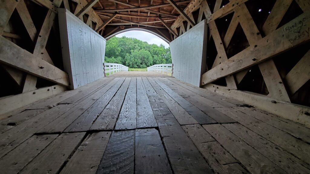 One of the covered bridges in Madison County, Iowa.