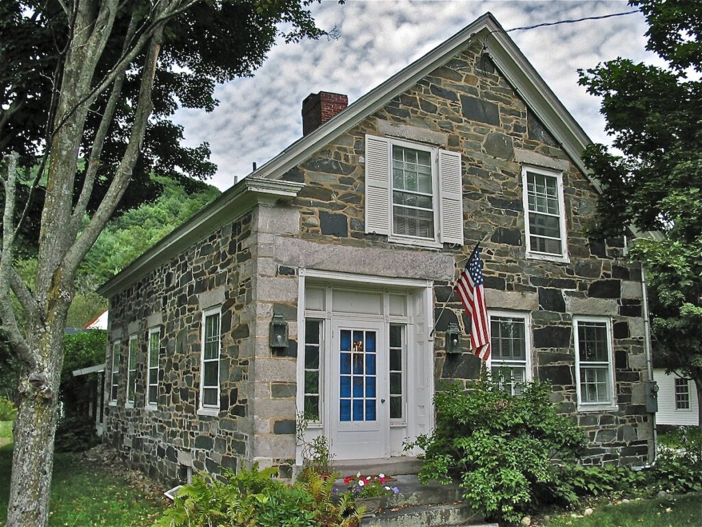 One of the historic granite houses in Chester, Vermont.