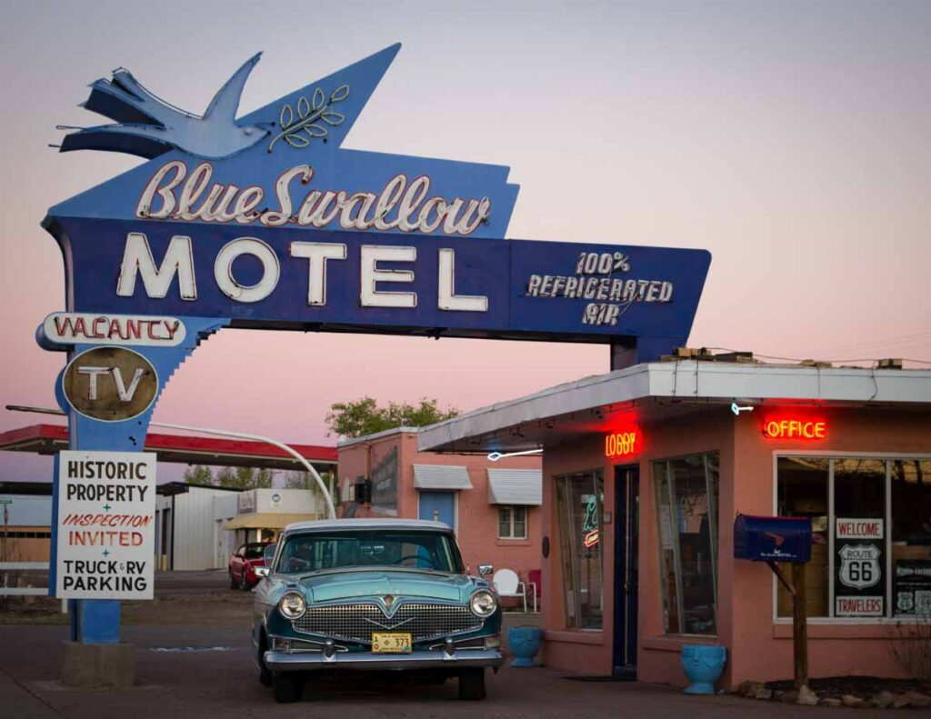 One of the historic motels along Route 66.