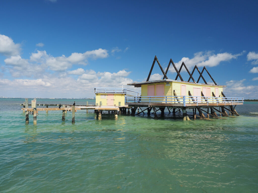 One of the houses at Stiltsville in Key Biscayne, Florida.