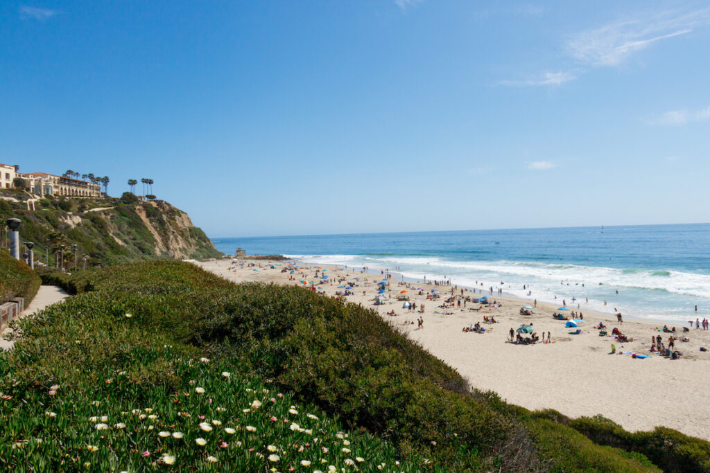 One of the many beaches in Dana Point, California.