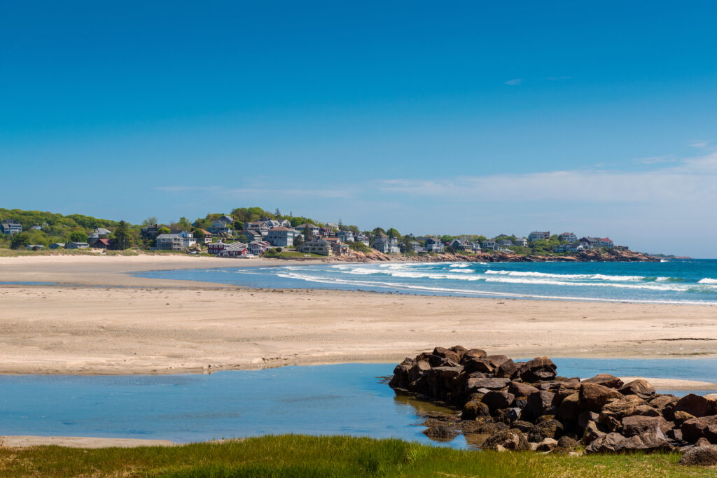 One of the many beaches in Gloucester, Massachusetts.