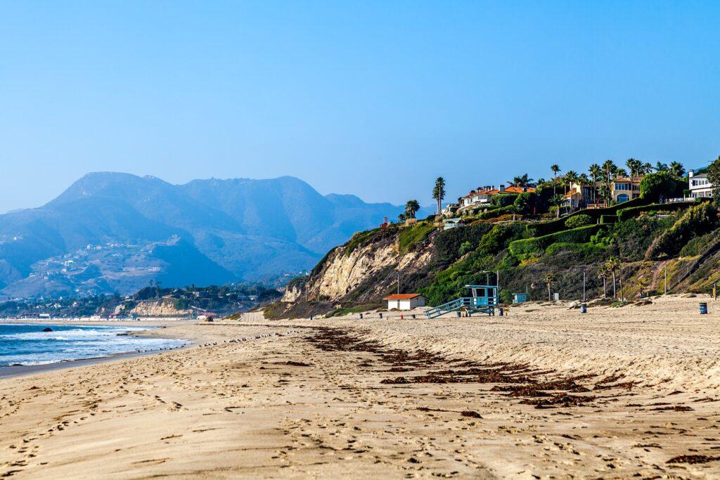One of the many beaches in Malibu.