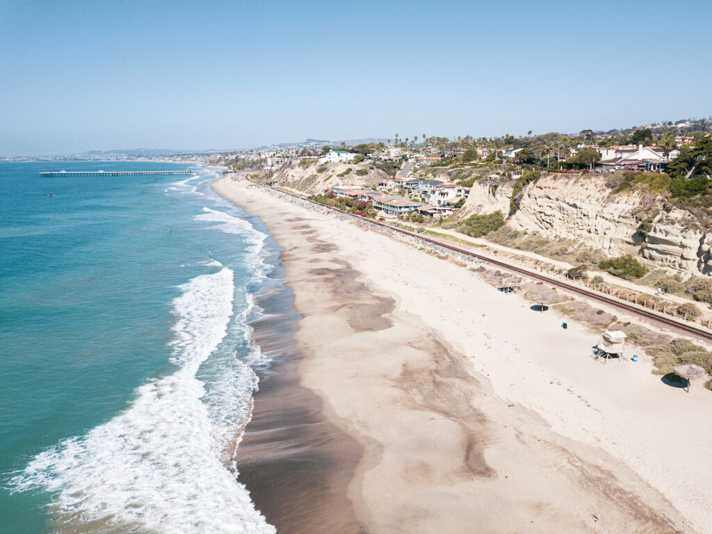 One of the many beaches in San Clemente.