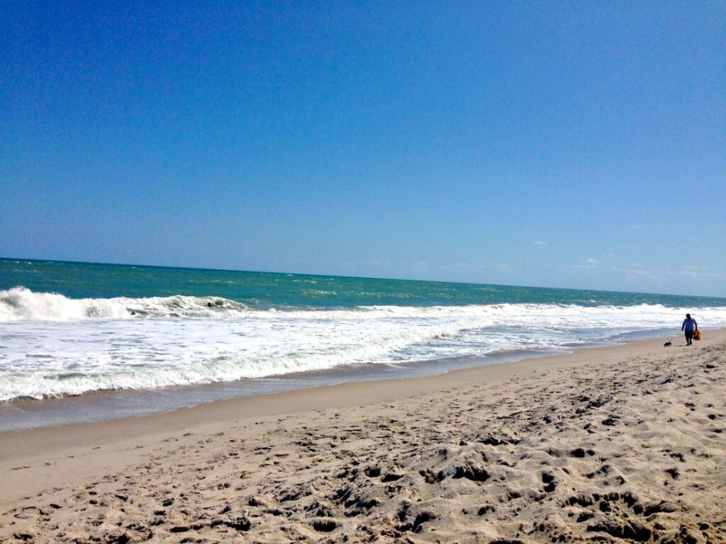 One of the many beaches in Vero Beach, Florida.