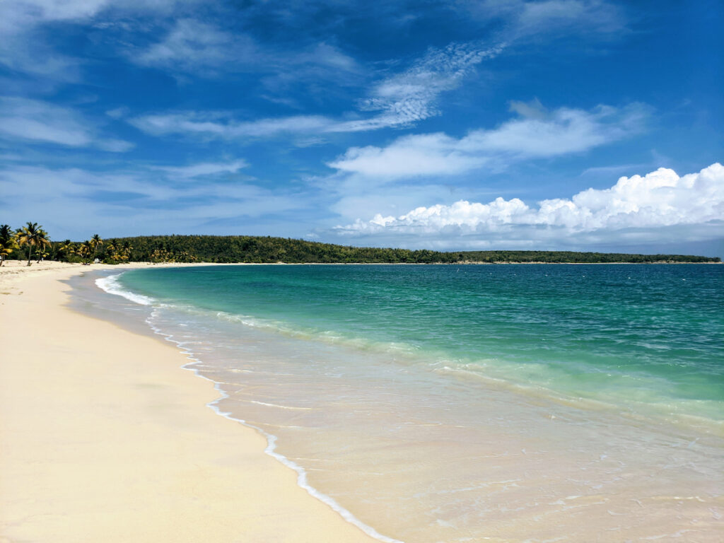 One of the many beaches on the island of Vieques.