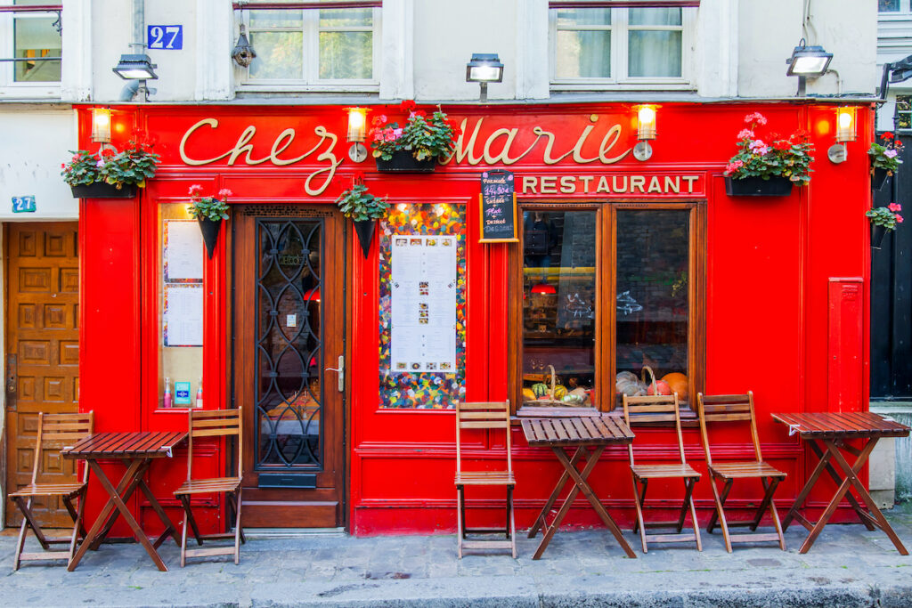 One of the many cafes in Paris, France.