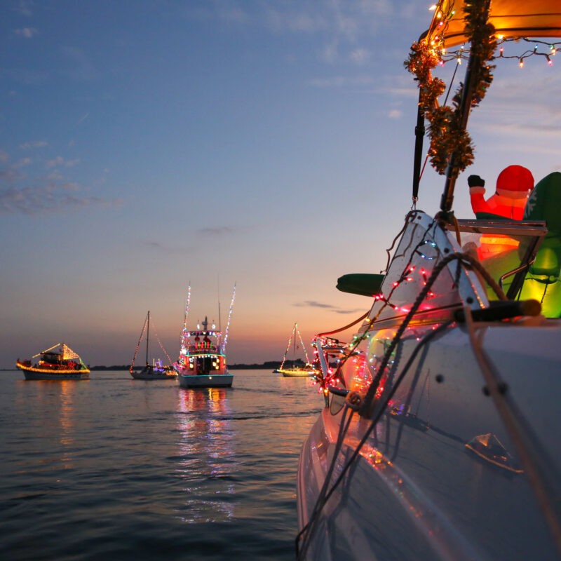 One of the many Christmas boat parades in Florida.