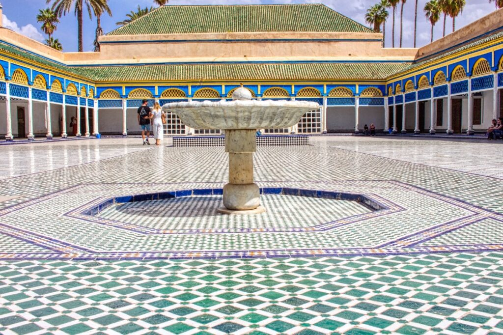 One of the many palaces in Marrakech, Morocco.