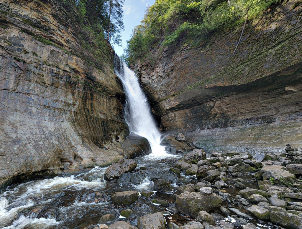 One of the many waterfalls at Pictured Rocks National Lakeshore.