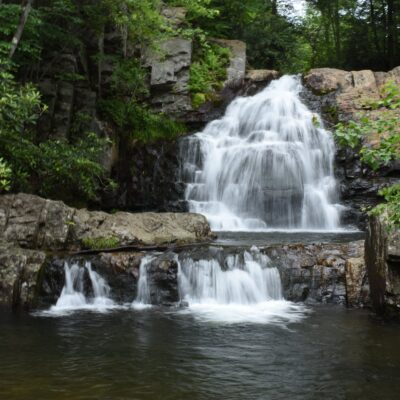 One of the many waterfalls in the beautiful Poconos.