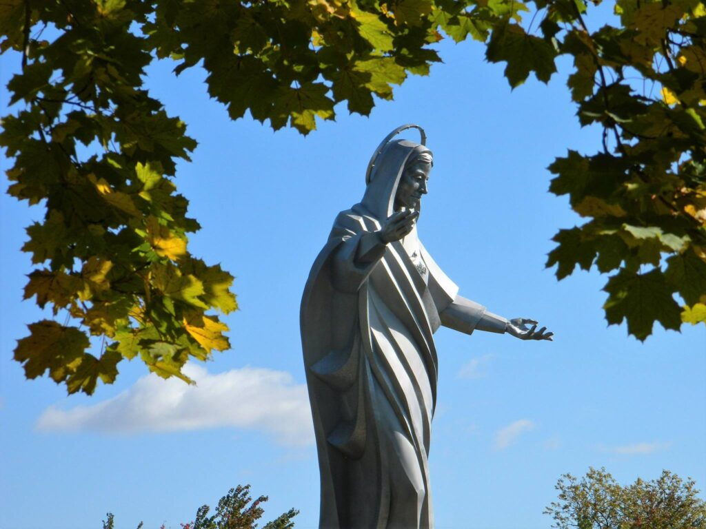 One of the massive statues at Trinity Heights.