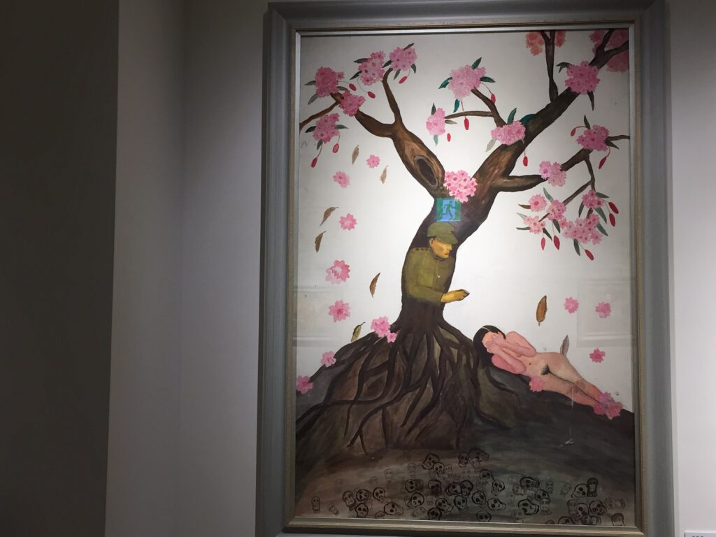 One of the paintings in the museum.