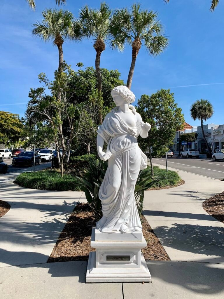One of the Ringling Statues in St. Armands Circle.